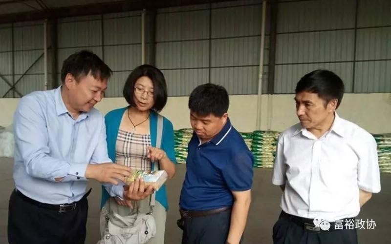 黑龙江富裕县政府来公司考察设备